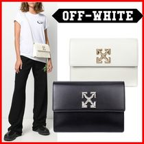 Off-White Casual Style Calfskin Street Style Plain Crossbody