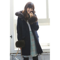 Casual Style Faux Fur Plain Medium Office Style