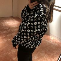Louis Vuitton MONOGRAM Crew Neck Monogram Unisex Nylon Street Style Bi-color