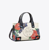 Tory Burch ELLA TOTE Flower Patterns Casual Style Nylon 2WAY Plain Party Style