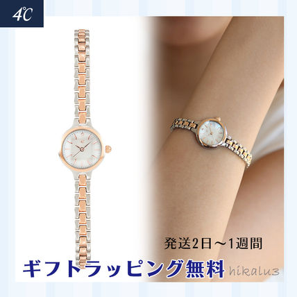 Round Jewelry Watches Stainless Office Style Elegant Style