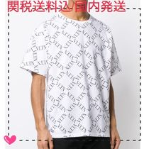 VALENTINO VLTN Cotton Short Sleeves Oversized Logo T-Shirts