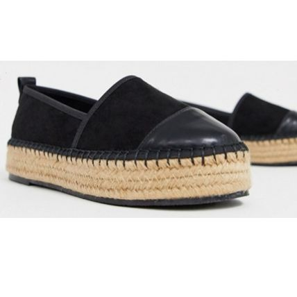 ASOS Platform Round Toe Casual Style Plain Espadrille Shoes