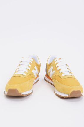 Street Style Leather Logo Sneakers