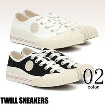 Ance Studios Round Toe Rubber Sole Lace-up Casual Style Unisex