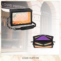 Louis Vuitton Monogram Unisex Street Style 2WAY Chain Small Shoulder Bag