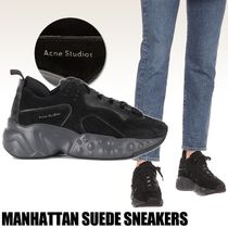 Ance Studios Platform Round Toe Rubber Sole Lace-up Casual Style Unisex