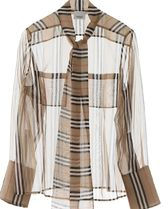 Burberry Casual Style Silk Long Sleeves Long Party Style