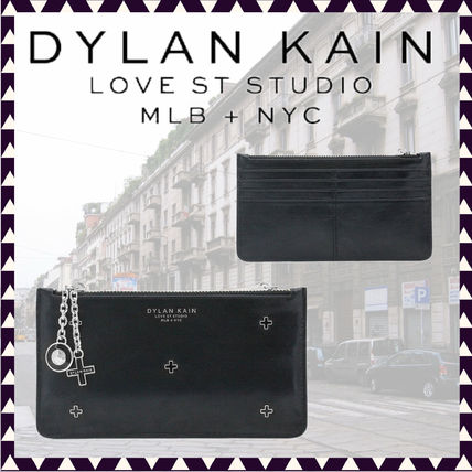 Studded Plain Leather Bridal Logo Pouches & Cosmetic Bags