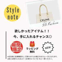 CELINE Horizontal Cabas Casual Style Calfskin A4 2WAY Plain Office Style Logo Totes