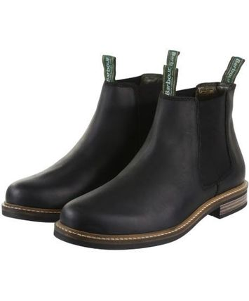 Plain Leather Logo Boots