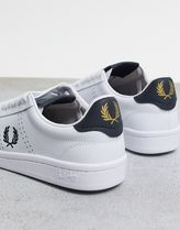 FRED PERRY Lace-up Casual Style Unisex Street Style Leather Logo