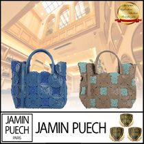 JAMIN PUECH Casual Style Plain Leather Handbags