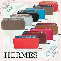 HERMES Silk In Calfskin Long Wallet  Long Wallets