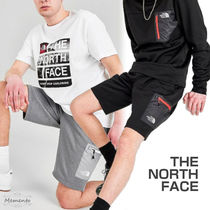 THE NORTH FACE Unisex Street Style Plain Logo Cargo Shorts