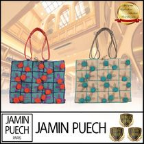 JAMIN PUECH Other Plaid Patterns Casual Style Blended Fabrics Totes