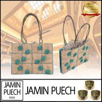 JAMIN PUECH Other Plaid Patterns Casual Style Blended Fabrics Leather