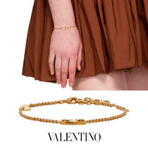 VALENTINO Chain Party Style Brass Office Style Elegant Style