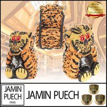 JAMIN PUECH Casual Style Blended Fabrics Street Style Leather Backpacks