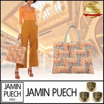 JAMIN PUECH Casual Style Blended Fabrics Leather Totes