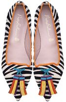 Pretty Ballerinas Zebra Patterns Platform Casual Style Suede Pointed Toe Shoes