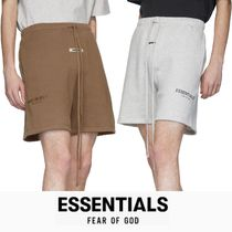 FEAR OF GOD ESSENTIALS Unisex Street Style Plain Cotton Logo Cargo Shorts