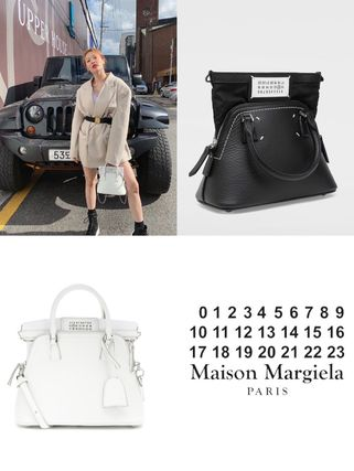 Street Style 2WAY Plain Leather Crossbody Logo Shoulder Bags