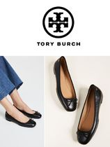 Tory Burch Plain Leather Office Style Flats
