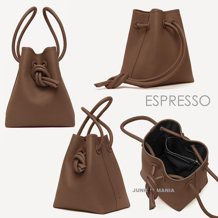 Casual Style 2WAY Plain Leather Purses Office Style