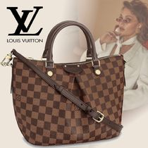 Louis Vuitton DAMIER Other Check Patterns Casual Style Calfskin Canvas