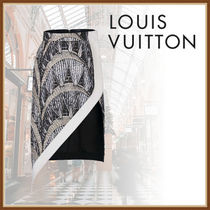 Louis Vuitton Casual Style Party Style Elegant Style Asymmetry Skirts