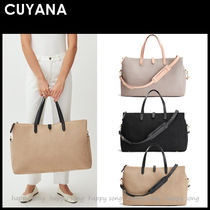CUYANA Unisex Canvas Street Style A4 2WAY 3WAY Bi-color Plain