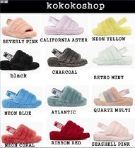 UGG Australia YEAH Casual Style Footbed Sandals Shower Shoes Logo Flat Sandals