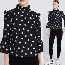Alice+Olivia Flower Patterns Casual Style Tops