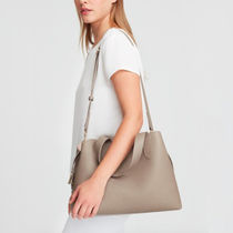 CUYANA Casual Style 2WAY Plain Leather Office Style Elegant Style