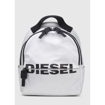 DIESEL Casual Style Plain Logo Backpacks