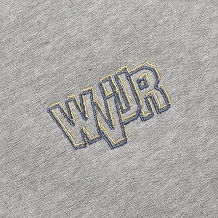 WV PROJECT Hoodies Unisex Street Style Long Sleeves Plain Cotton Oversized Logo 4