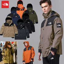 THE NORTH FACE Short Unisex Street Style Khaki Logo Anorak Jackets Jackets