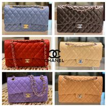 CHANEL MATELASSE Casual Style Calfskin Lambskin 2WAY Chain Plain Party Style