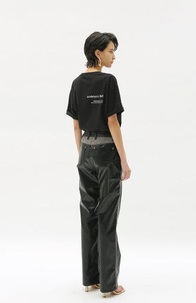 ANDERSSON BELL More T-Shirts Unisex Street Style Collaboration Plain Cotton Short Sleeves 13