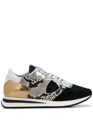 Casual Style Street Style Leather Python Logo