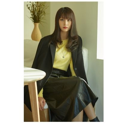 Casual Style Street Style Oversized Formal Style  Jackets