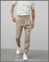 BRUNELLO CUCINELLI Tapered Pants Stripes Linen Tapered Pants