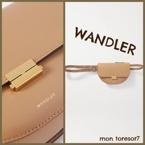 WANDLER Casual Style 3WAY Plain Leather Party Style Office Style
