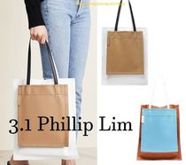 3.1 Phillip Lim Casual Style Street Style A4 2WAY Plain Leather Totes