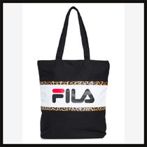 FILA Leopard Patterns Logo Totes