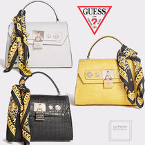 Guess Casual Style Faux Fur Blended Fabrics 2WAY