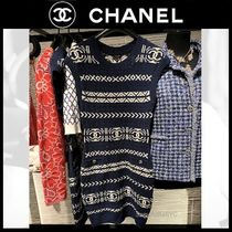CHANEL ICON Casual Style Tight Sleeveless Plain Medium Party Style