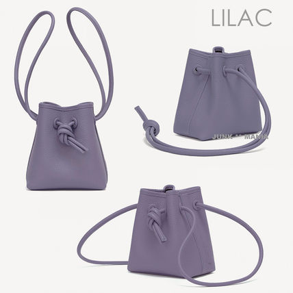 Casual Style 2WAY Plain Leather Purses Elegant Style