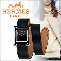 HERMES Casual Style Street Style Leather Party Style Quartz Watches